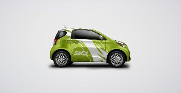 Car Branding Mockup