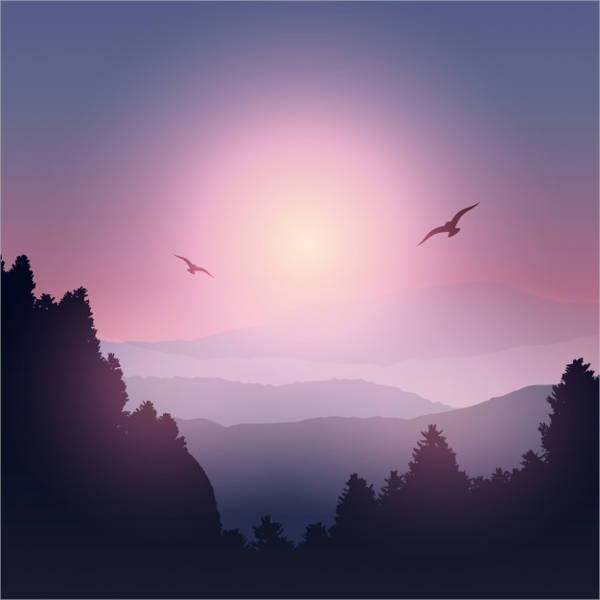 landscape-mountain-silhouette