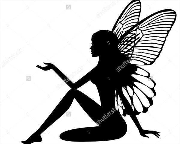 Simple Fairy Silhouette