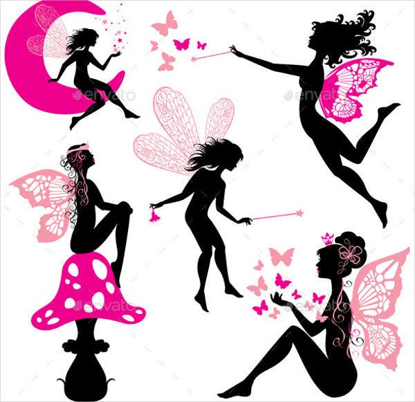 picture relating to Fairy Silhouette Printable named 10+ Fairy Silhouettes No cost Quality Templates