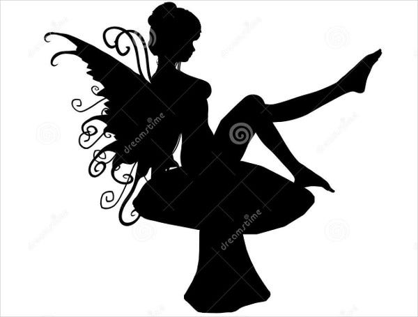 photo about Printable Silhouettes named 10+ Fairy Silhouettes Totally free Top quality Templates