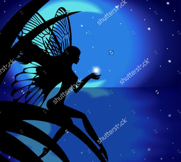 moon fairy silhouette