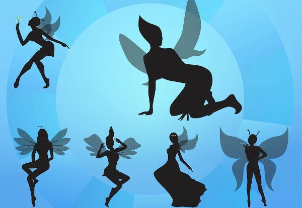photograph relating to Free Printable Fairy Silhouette named 10+ Fairy Silhouettes Free of charge Top quality Templates