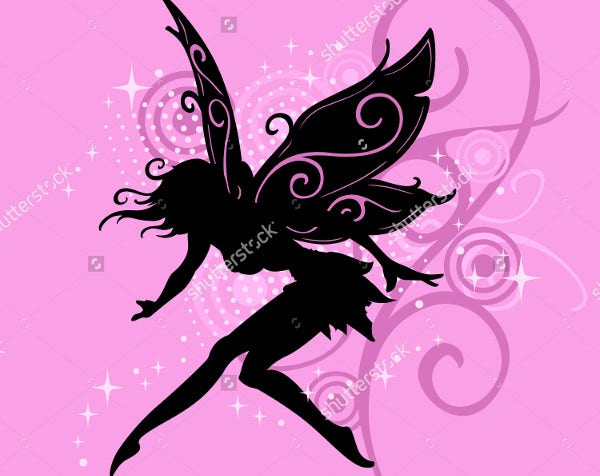 photo relating to Free Printable Fairy Silhouette titled 10+ Fairy Silhouettes Free of charge High quality Templates