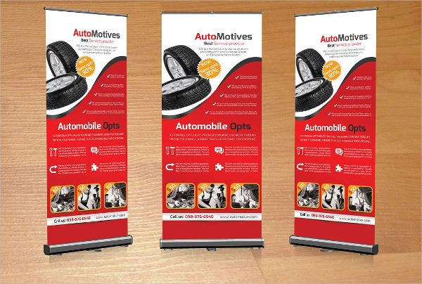 automotive business roll up banner