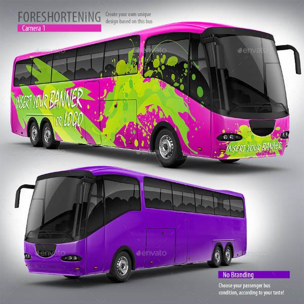 Bus Branding Mockup