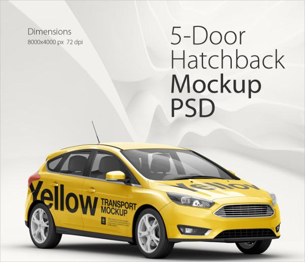 Hatchback Mockup