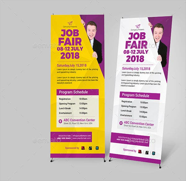 job fair roll up banner template