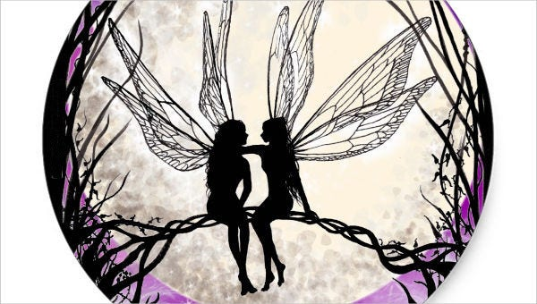 photo relating to Free Printable Fairy Wings referred to as 10+ Fairy Silhouettes Cost-free Quality Templates