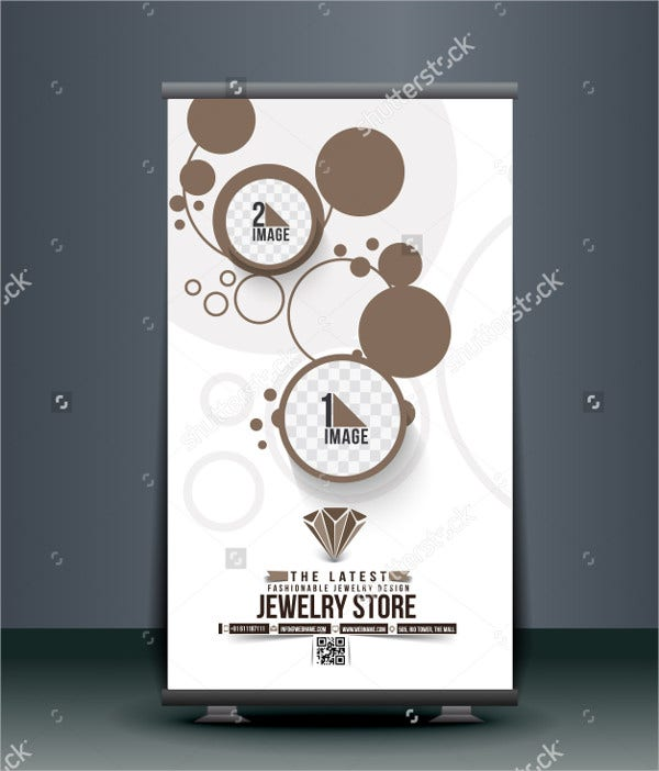 Jewelry Store Roll Up Banner Design