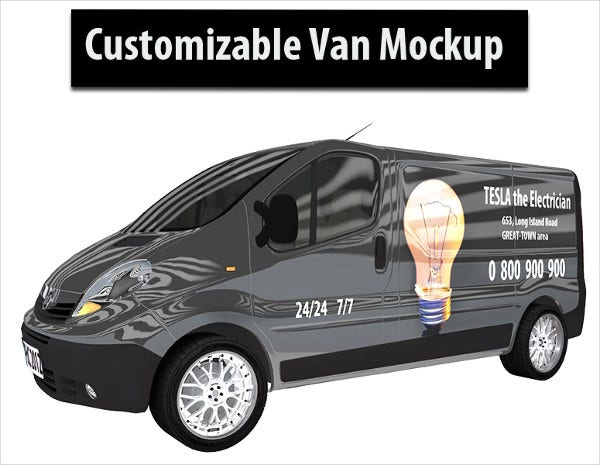 Customizable Van Mockup