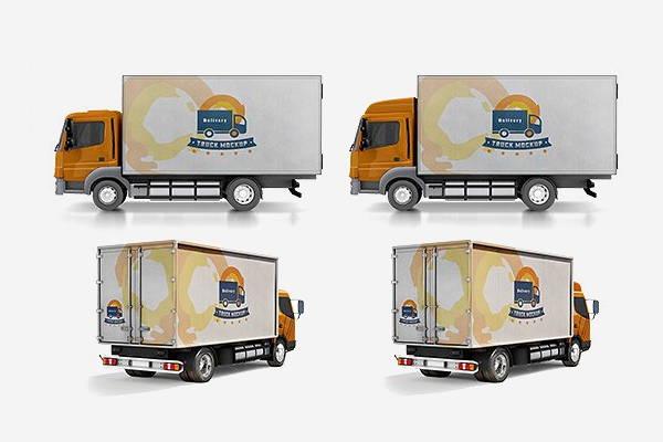 free psd truck mockup