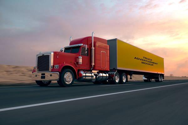truck advertising mockup