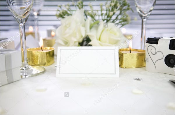 blank wedding name card