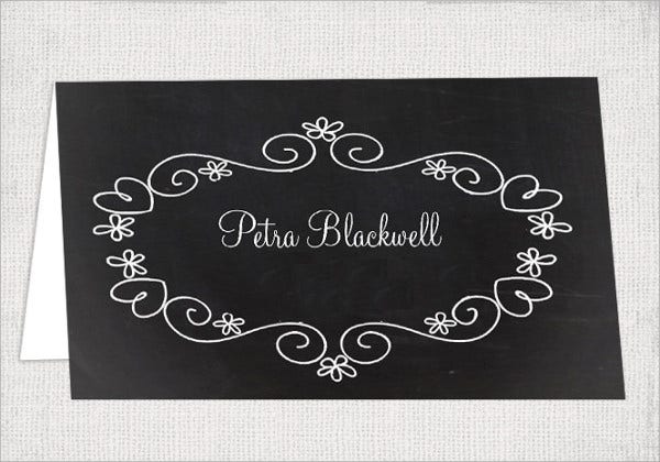 Chalkboard Wedding Name Card