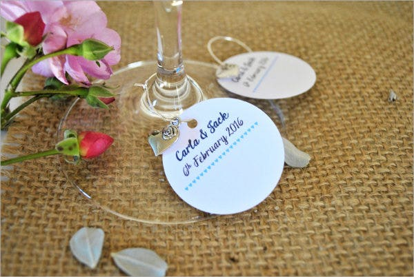 Personalised Wedding Name Card