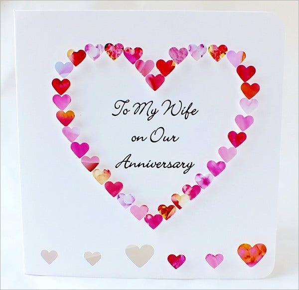 Wedding Anniversary Name Card