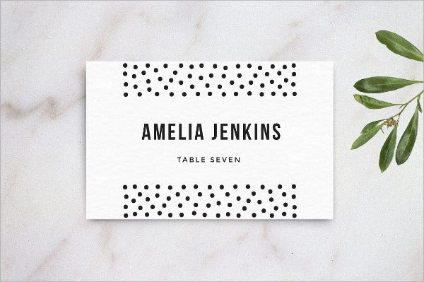 wedding table name card