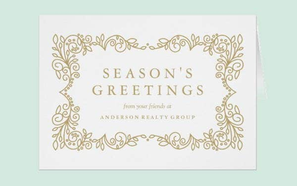 unique business holiday card