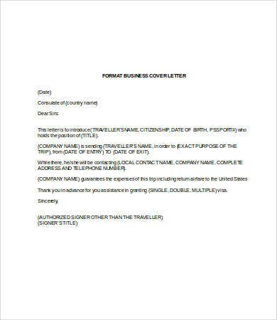 Business Cover Letter Template In Word