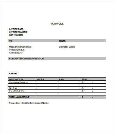Service Invoice Template Word Free Word Documents Download - It services invoice template