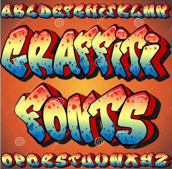 3D Graffiti Alphabet Font