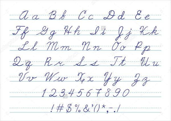 Magic image regarding printable cursive alphabet