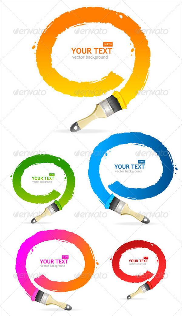 vector speech bubble brushes