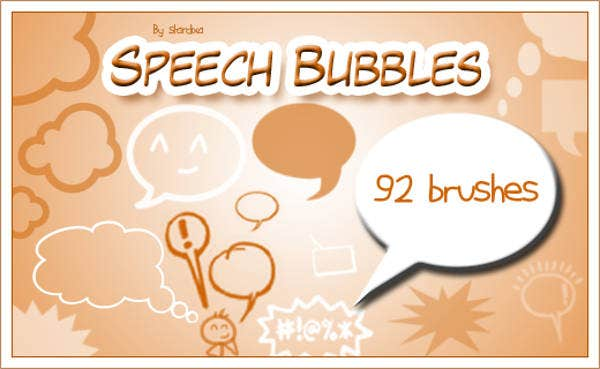 free speech bubble brushes
