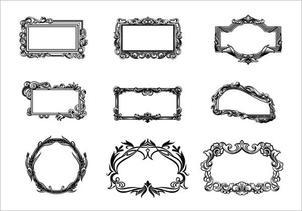 Hand Drawn Frame Brushes