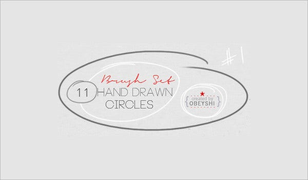 Hand Drawn Circle Brushes