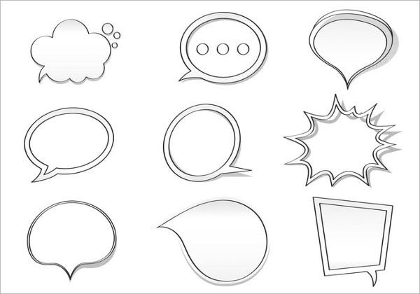 Hand Drawn Speech Bubble Brushes