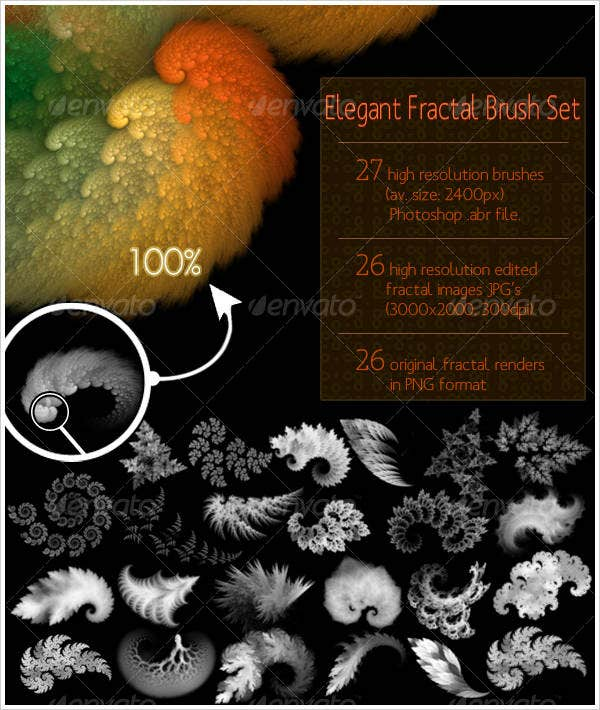 elegant-fractal-brush-set