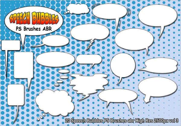 Speech Bubble Brushes - 7+ Paint Photoshop Brushes - ABR Format ...