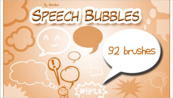 speech bubble brushes