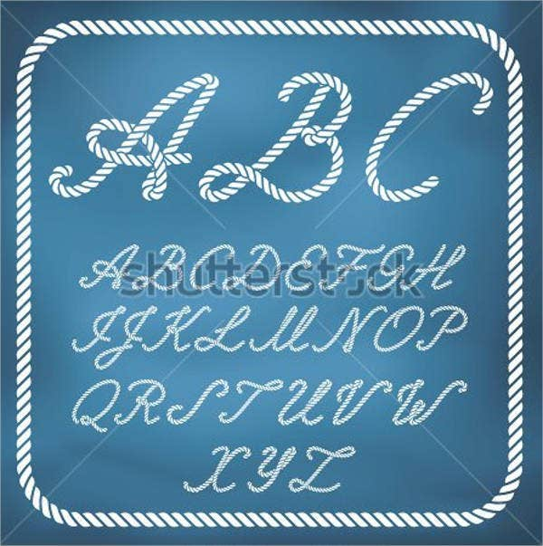 nautical-rope-font