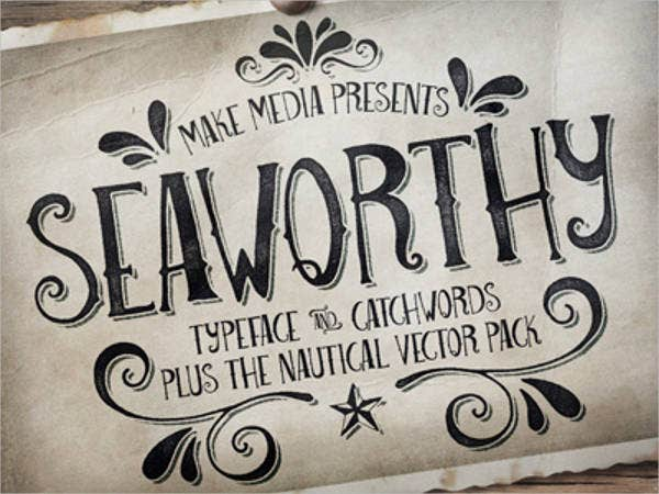 nautical ocean font