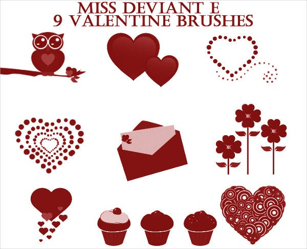 Valentines Day Love Brushes
