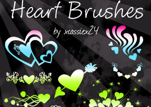 Valentines Day Heart Brushes