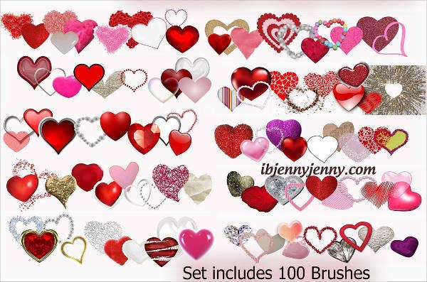 Valentines Day Clip Art Brushes