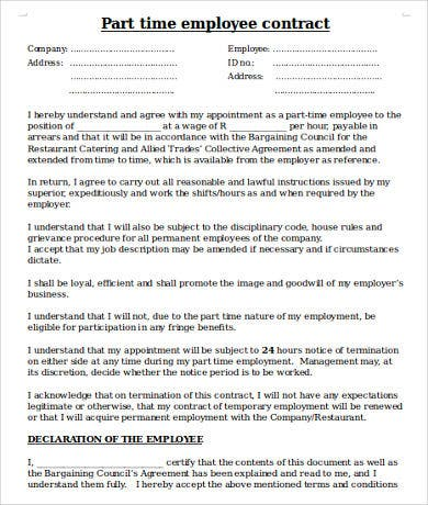 Employee Contract Template - 17+ Free Word, PDF Documents Download ...