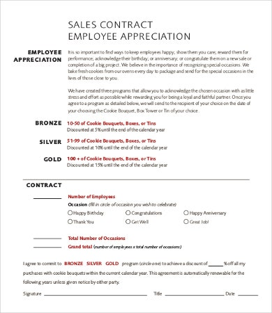 Sales Employee Contract Template