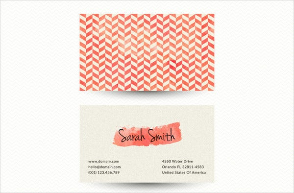 Free Chevron Business Card Template