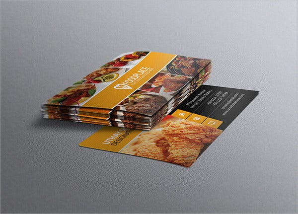 Free business card templates 9 free psd vector ai eps format free restaurant business card template reheart Gallery