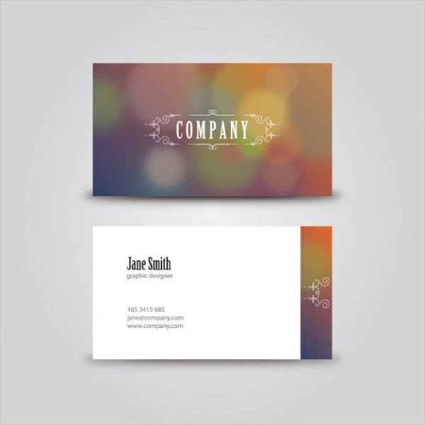 free vintage business card template1