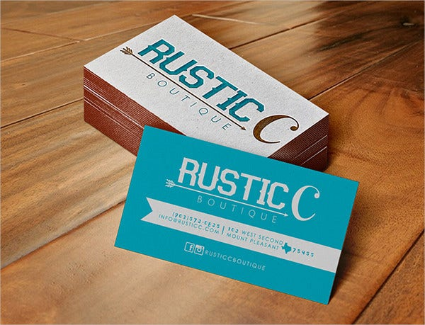 free rustic business card template1