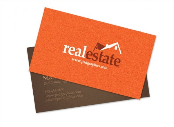 free real estate business card template1