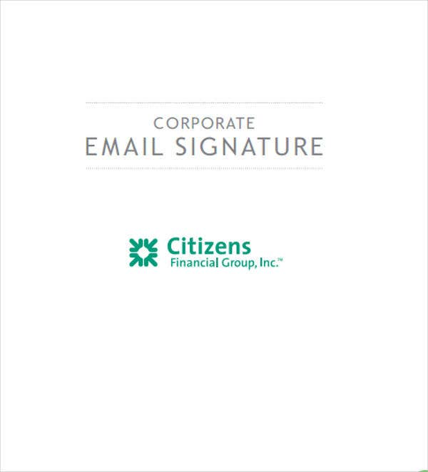 company email signature template