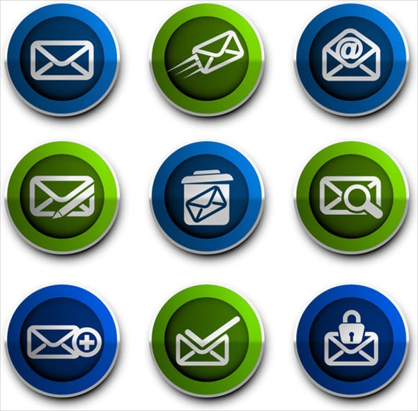 email adress icons