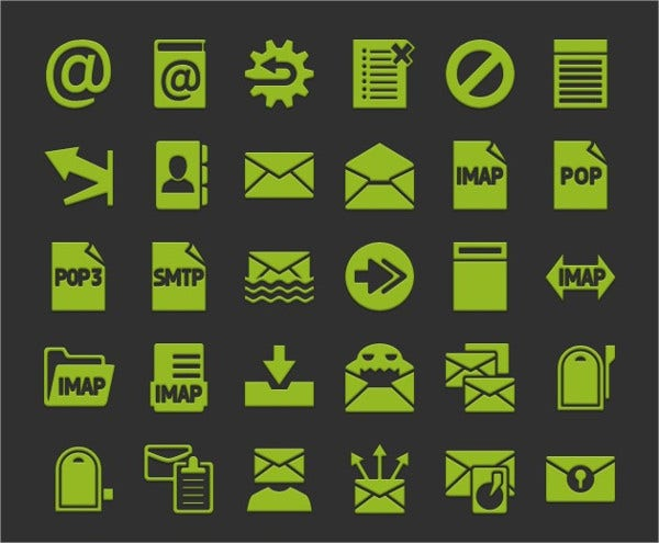 Android Email Icons